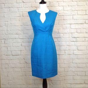 Trina Turk Delhi V neck sleeveless fitted dress